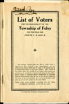 Foley Voters List 1939