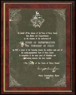 125 year of Foley Incorporation - Plaque