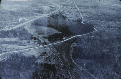 Aerial View of James Bay Junction and Highway 69