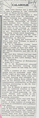 Calabogie News - May 16, 1919