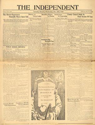 Grimsby Independent, 25 Dec 1929