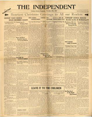 Grimsby Independent, 20 Dec 1933