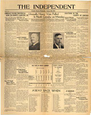 Grimsby Independent, 9 Jan 1935
