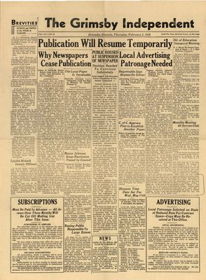 Grimsby Independent, 2 Feb 1939