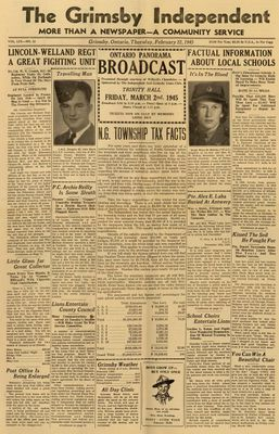 Grimsby Independent, 22 Feb 1945