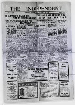 Grimsby Independent, 8 Jan 1913