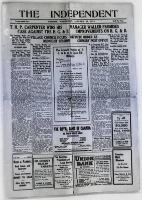 Grimsby Independent, 22 Jan 1913