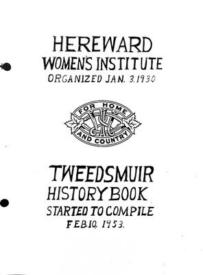 Hereward Branch Tweedsmuir History