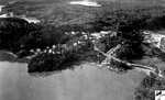 Aerial View of Skunk Hollow, Steep Rock Iron Mine (1945) - Main Camp(~1945)