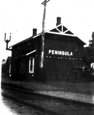 CPR Train Station - Peninsula (~1938)