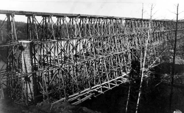 CPR Bridge Crossing Big Pic River (~1889)