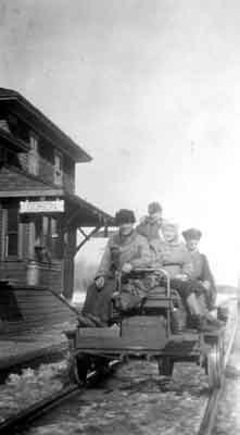 Frank Hughes and Family - Dorion Station (~1930)