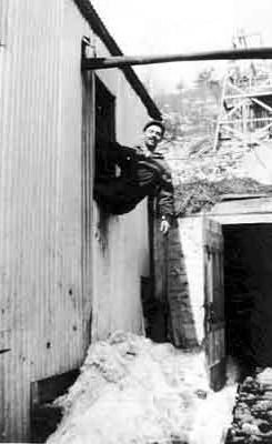 Man in Window - Ogema Mine