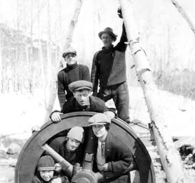 Fly Wheel at Ogema Mine (~1926)