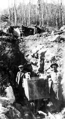 Bringing Out the Ore From Ogema Mine (~1927)