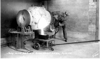 MacLeod Mine's First Brick (1938)