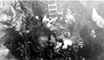 Miners Hand drilling in Shaft (1939)