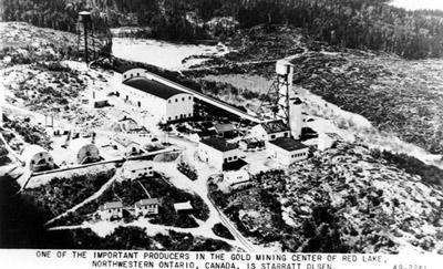 Aerial View of Starratt Olsen Gold Mine