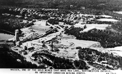 Aerial View of Madsen Gold Mine in Red Lake