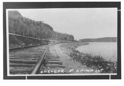CNR and CPR Tracks - Lake Nipigon (~1936)