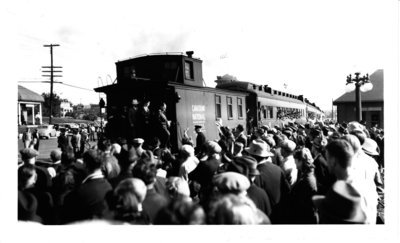 Forestry unit leaving by train