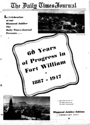 History of Fort William, Ontario (1887-1947)