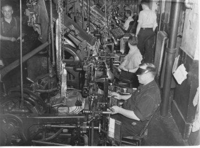 Printing Press & Linotype Operations at News Chronicle, Lorne St., Port Arthur