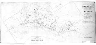 Copy of the City of Port Arthur Zoning Map