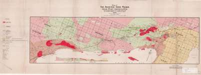 Map of The Animikie Iron Range Near Port Arthur, Ont.