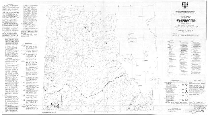 Iron Deposits of Ontario Northeastern Sheet
