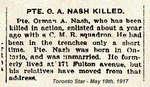 Orman Nash Obituary