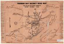 Thunder Bay District Road Map