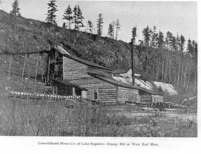 Silver Mountain West - Consolidated Mines Co. Stamp Mill West End Mine (1890)