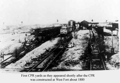 First CPR Yard (~1880)