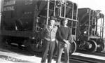 Men in Front of CNR Cars (July 17, 1945)