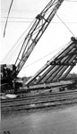 Port Arthur Ore Dock - raising bents (Oct 26th 1944)
