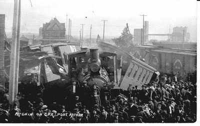 Train Wreck on the C.P.R., Port Arthur (1907)