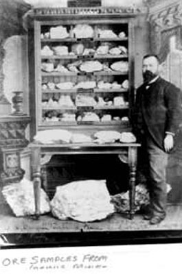 Thomas A. Keefer with Ore Samples (~1890)