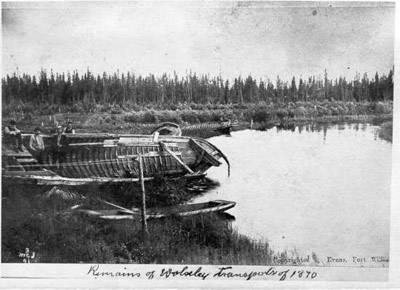 Remains of the Wolseley Transports of 1870