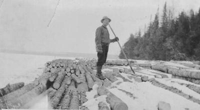 Log boom (~1932)