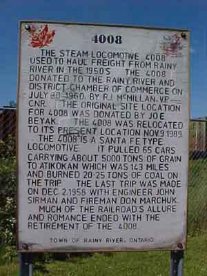 Plaque- The Last Steam Locomotive '4008'