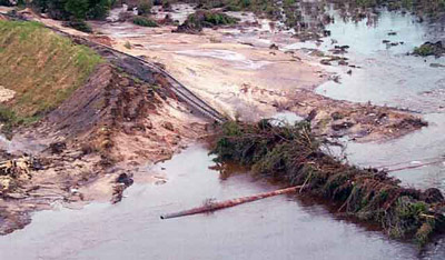 Aerial View of Washout