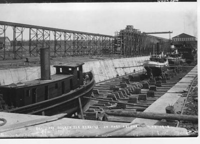 Dry Docked for Repairs - Port Arthur (1918)