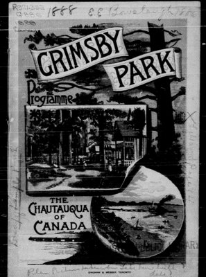 1888 Grimsby Park Programme