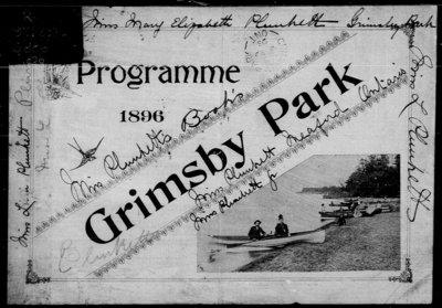 1896 Grimsby Park Program