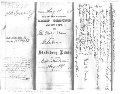 Statutory Lease with Mrs. Phebe Glass of London, fragment