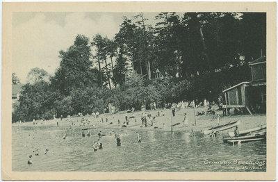 Grimsby Beach, Ontario postcard of photograph by Murdoch