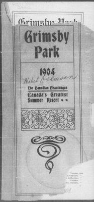 Grimsby Park Program, 1904