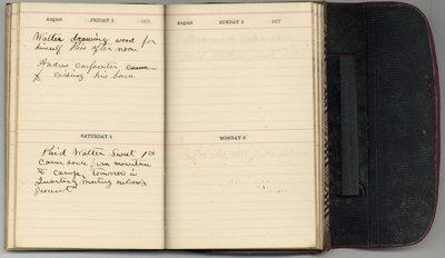 Edward Bowslaugh, diary entry, 1877, Aug 4
