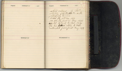 Edward Bowslaugh, diary entry, 1877